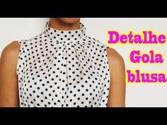 Como costurar Vestido longo gola alta role Alana Santos Blogger - YouTube