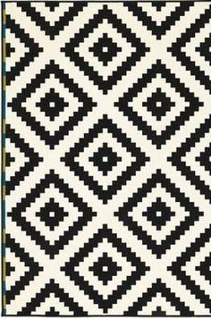 "Ikea LAPPLJUNG RUTA New LARGE 6'7"" x 9'10"" Area Rug Carpet Black and White NIP on eBay!"