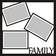 Want2scrap  Family - 12x12 Overlay Scrapbook laser design page