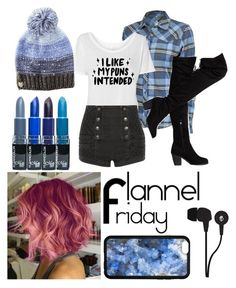 """""""Flannel Friday p.25"""" by a-valen ❤ liked on Polyvore featuring Club Ride, Pierre Balmain, Betsey Johnson and Skullcandy"""