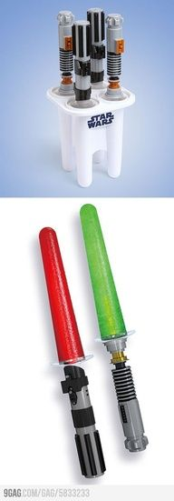 Star Wars Glowing Lightsaber Ice Pop Maker.  COOL
