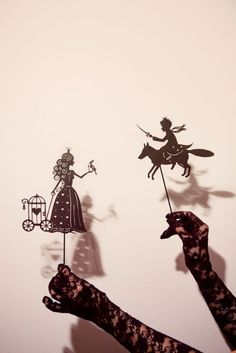 Elegant shadow puppets....participants acting/creating your own story..possibly.