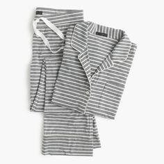 Petite dreamy cotton pajama set in stripe