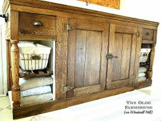 DIY:: Craigslist Throwaway to Farmhouse Treasure !