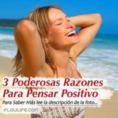 (Nuevo Artículo)  3 Poderosas Razones Para Pensar Positivo  Cada vez hay más hechos y más testimonios de como el pensamiento positivo nos ayuda a transformar de forma extraordinaria nuestras vidas, pero también es una realidad que hay muchas personas que no conocen nada sobre el tema.  Es por eso que a lo largo de este artículo revelo los 3 Poderosas Razones Para Pensar Positivo…  Para Seguir Leyendo Haz Clic Aquí: http://floulife.com/3-poderosas-razones-para-pensar-positivo/