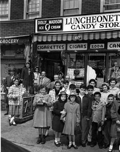 Susie's Candy Store located on East 183rd Street and Hughes Ave. 1950s Bronx, New York