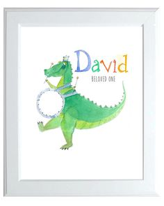 Children's name art-Dragons-Drums-8X10Musical