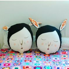I like the idea of face pillows but wouldn't it be cool if it were the kids' faces?!?!?!