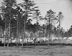 American Civil War Pictures & Photos | Brandy Station, Virginia. Headquarters, Army of the Potomac. Eastern half of the camp.