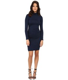 Michael Stars Exclusive L/S Turleneck Dress w/ Shirring   6pm.com