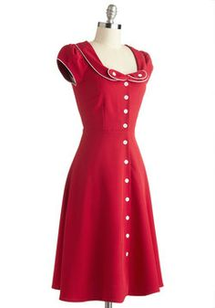 So in love with this vintage look. All that's missing is a victory roll! // Phone Booth Belle Dress, #ModCloth