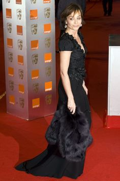 Kristin Scott Thomas Kristin Scott Thomas, Actresses, Formal, Elegant, Black, Women, Style, Fashion, Female Actresses