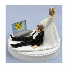 Laptop Computer Nut Internet Wedding Cake Topper Found On Polyvore