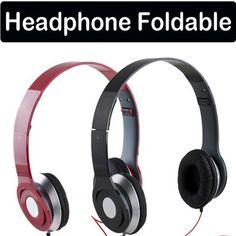 Foldable On Ear Earphone Headphone for iPod MP4 IPhone Samsung Sony PSP MP3 NEW beats dupe £4