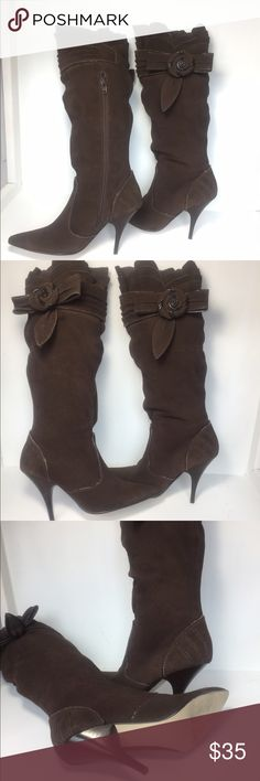 Andrea heeled boots Beautiful brown leather Andrea heeled boots ANDREA FENZI Shoes Heeled Boots