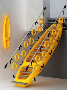 Kayak Staircase by Preetham Dsouza Interior designer, Mangalore, India
