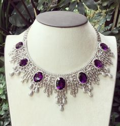 """The Rich Gems (@therichgems) on Instagram: """"The beauty of Amethyst #diamondnecklace #richgemscollections #handcrafted #madeinmyanmar"""""""