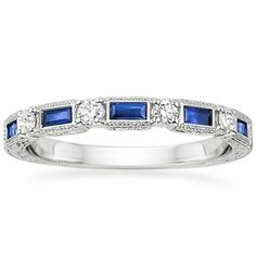 Platinum Vintage Sapphire and Diamond Ring from Brilliant Earth