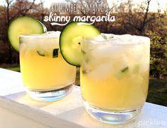 Cucumber + Mango #Skinny #Margarita Recipe! This is the most delicious margarita I've ever had.