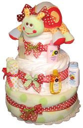 Diaper Cakes for a Baby Shower!