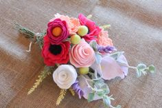 Handmade Felt Flower Bouquet by ElleandLu on Etsy