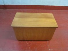 Teak coloured ottoman (DELIVERY AVAILABLE) Falkirk/ Edinburgh Picture 1