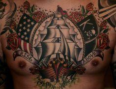 Old School USA Tattoo by Guru Tattoo