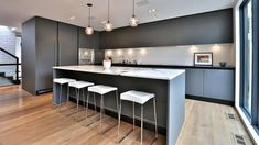 The home's kitchen is by Scavolini.