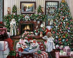 The Night Before Christmas by Susan Rios ~ indoor decor