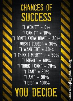 What are your chances of success? Make it happen! Tone-and-Tighten.com