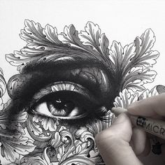 Magaicl II (Eye of Beauty and Rage)Dot-Drawing & Brush...