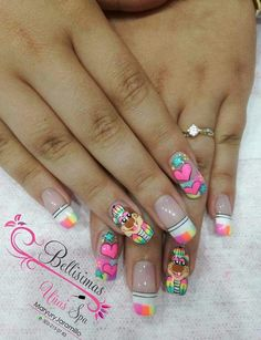 Disney Acrylic Nails, My Beauty, Diy And Crafts, Manicure, Nail Designs, Make Up, Nail Art, Fabulous Nails, Stitches