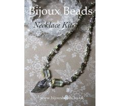 Silver Leaf Necklace kit from a selection at Bijoux Beads Leaf Necklace, Beaded Necklace, Pendant Necklace, Jewellery Making, Kit, Beads, Silver, Jewelry, Beaded Collar