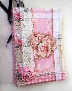 Book lover gift for her, Decorative shabby chic Bible, Country cottage decor Book Pink Roses, Wedding gift book, Shabby Chic Decor by ArtShopGifts on Etsy https://www.etsy.com/listing/475829366/book-lover-gift-for-her-decorative