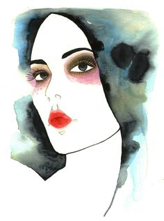 characterize # watercolor, ink