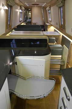 Have you been thinking about building your own boat, but think it may be too much hassle? Don't give up on your dream just yet! It is true that boat plans can be pretty complicated. Narrowboat Kitchen, Narrowboat Interiors, Canal Boat Interior, Sailboat Interior, Barge Boat, Canal Barge, Barge Interior, Build Your Own Boat, Floating House