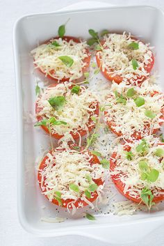 My Kitchen Affair: Parmesan Baked Tomatoes. Something Simple