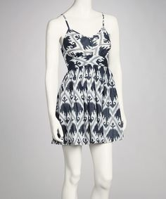 Take a look at this Black & White Ikat Dress by Funky People on #zulily today!