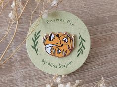 Little Sleepy Fox / Hard Enamel Pin / Lapel Pin Inspired by the Woods and Designed by Nina Stajner.