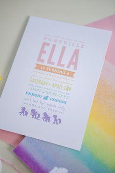 My Little Pony Invitations | Designed by Orange Paper Shoppe