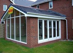 Sun Room gable glass pitched roof extension York.jpg (387×281)