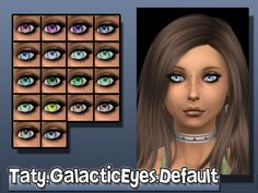 The Sims Resource: Galactic Eyes by Taty • Sims 4 Downloads