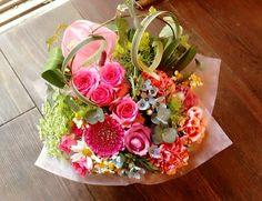 花ギフトのプレゼント【BFM】 PINK!そんなフラワーアレンジメント