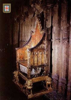 The Coronation Chair and the Stone of Scone, Westminster Abbey. This chair looks scary!