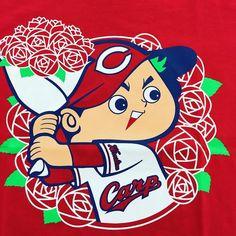 福山市政100周年Tシャツ(  ㅂ  )キュン #福山 #カープ #カープ坊や #バラ