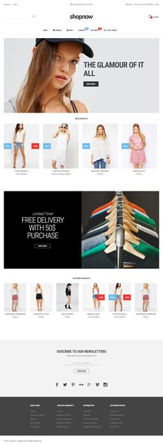 ShopNow is Premium full Responsive #Magento Theme. Bootstrap 3 Framework. If you like this #eCommerceTheme visit our handpicked list of best #Multipurpose Themes at: http://www.responsivemiracle.com/best-responsive-magento-multipurpose-themes/