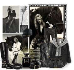 """""""Black horse"""" by lacas ❤ liked on Polyvore"""