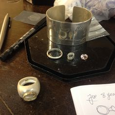 Jane's silver jewellery pieces