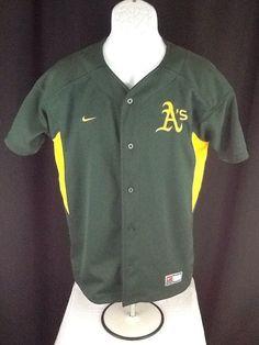 Nike Youth Oakland Athletics A's Jersey Baseball Size XL Sewn Chavez #3 Patches #Athletics #Nike #OaklandAs