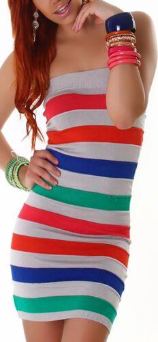 Feinstrick Bandeau Kleid Mini Top Gestreift Club Party Einheits Grosse 32 34 36 Ebay Bandeau Kleid Modestil Kleider